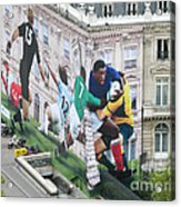 Rugby In Paris Acrylic Print