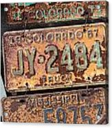 Rusted Plates Acrylic Print