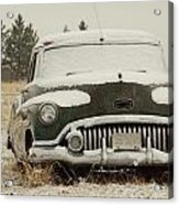 Rusting In The Snow Acrylic Print