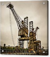 Rusty Cranes At Battersea Power Station Acrylic Print