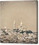 Sacre Coeur Basilica Of Montmartre In Paris Acrylic Print
