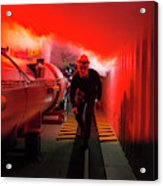 Safety Training At Cern Acrylic Print