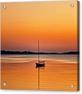 Sailboat At Sunset Acrylic Print