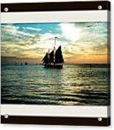 Sailboat Acrylic Print by Bruce Kessler