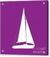 Sailboat In Purple And White Acrylic Print