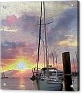 Sailboat Acrylic Print by Jon Neidert