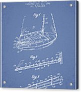 Sailboat Patent From 1996 - Vintage Acrylic Print