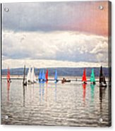 Sailing On Marine Lake A Reflection Acrylic Print
