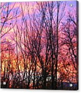 Red Sky In Morning Acrylic Print