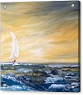 Sails At Sunset Acrylic Print