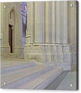 Saint John The Divine Cathedral Columns Acrylic Print