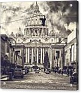 Saint Peters Basilica Rome Acrylic Print