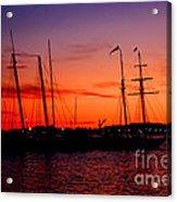 San Diego Harbor Sunset Acrylic Print