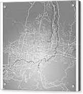 San Salvador Street Map - San Salvador El Salvador Road Map Art  Acrylic Print