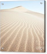 Sand Dunes In The Desert At Sunrise Dunhuang China Acrylic Print