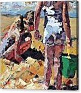 Sandcastles II Acrylic Print