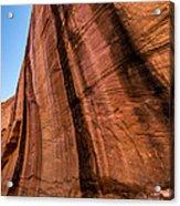 Sandstone Varnish Cliff - Coyote Gulch - Utah Acrylic Print