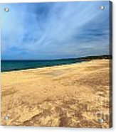 sandy beach in Piscinas Acrylic Print
