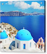 Santorini Island, Greece, Beautiful Acrylic Print