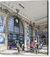 Sao Bento Railway Station Porto Portugal Acrylic Print