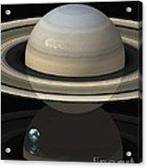 Saturn And Earth, Artwork Acrylic Print
