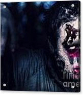 Scary Zombie Looking Gravely Ill. Monster Disease Acrylic Print