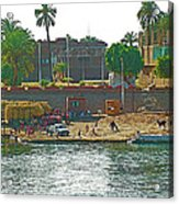 Scene Along Nile River Between Luxor And Qena-egypt  Acrylic Print