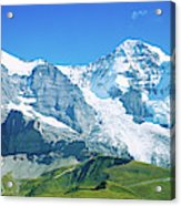 Scenic View Of Eiger And Monch Mountain Acrylic Print