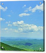 Scenic View Of Mountain Range, Blue Acrylic Print