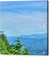 Scenic View Of Mountain Range Acrylic Print