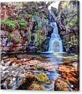 Scotish Waterfall Hdr Acrylic Print