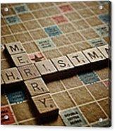 Scrabble Merry Christmas Acrylic Print