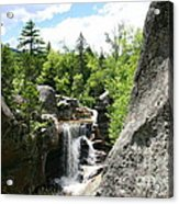 Screw Auger Falls At Grafton Notch State Park  Acrylic Print