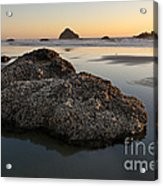 Sea Stacks At Sunset Acrylic Print