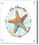 Sea Stars Align For A Perfect Day At The Beach Acrylic Print