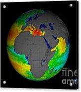 Sea Surface Salinity, Aquarius Image Acrylic Print