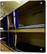 Seaman Lockers And Bunks Aboard Uss Acrylic Print