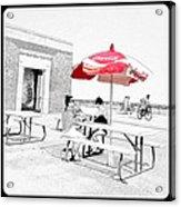 Seaside Sketch Acrylic Print