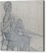 Seated Acrylic Print