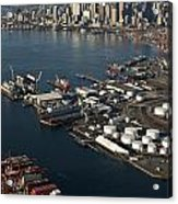 Seattle Skyline And South Industrial Area Acrylic Print