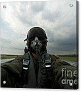 Self-portrait Of An Aerial Combat Acrylic Print