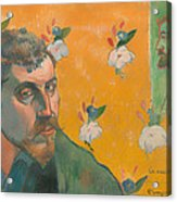 Self Portrait With Portrait Of Bernard Acrylic Print