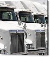 Semi Truck Fleet Acrylic Print