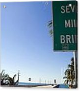 Seven Mile Bridge Florida Keys Acrylic Print