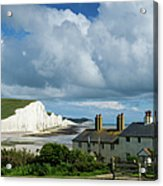 Seven Sisters Cliffs And Coastguard Cottages Acrylic Print