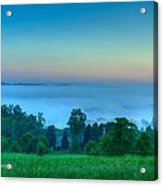 Shaconage Land Of The Blue Smoke Acrylic Print by Paul Herrmann