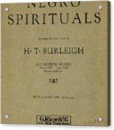 Sheet Music Spiritual Acrylic Print