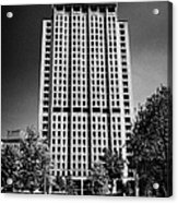 shell centre tower and jubilee gardens southbank London England UK Acrylic Print