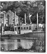 Shem Creek In Black And White Acrylic Print