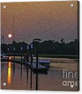 Sunset Life On Shem Creek  Acrylic Print